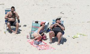 Gov Chris Christie enjoying his beach
